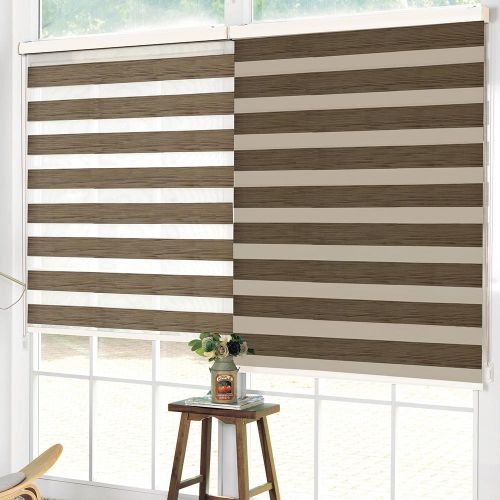 Wood Look Day & Night Roller Blind - Brown - Magasins Hart   Hart Stores