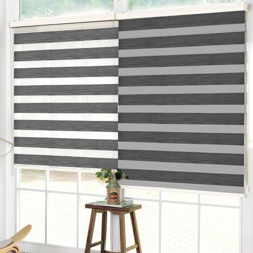 Wood Look Day & Night Roller Blind - Grey - Magasins Hart | Hart Stores