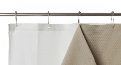 Shower Curtain White Bacteria And Mildew Resistant