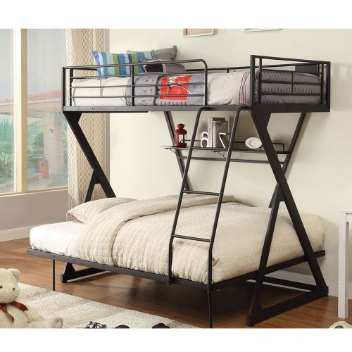 Zazie - Metal Bunk Bed Frame Twin/Full - Magasins Hart | Hart Stores