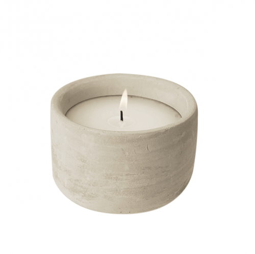 Cement Casted Candle Jar