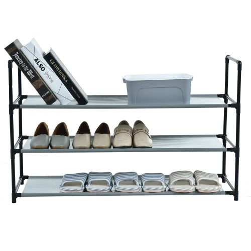 3 Tier Shoe Rack with Fabric Shelves - Magasins Hart | Hart Stores