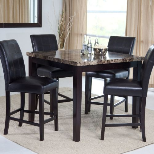 Sandra Venditti - 5 Piece Pub Style Dining Set with Marble Top Finish - Magasins Hart | Hart Stores
