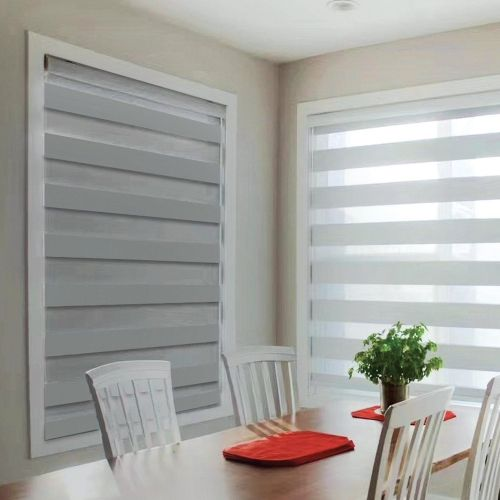 Day & Night Blackout Roller Blinds   White