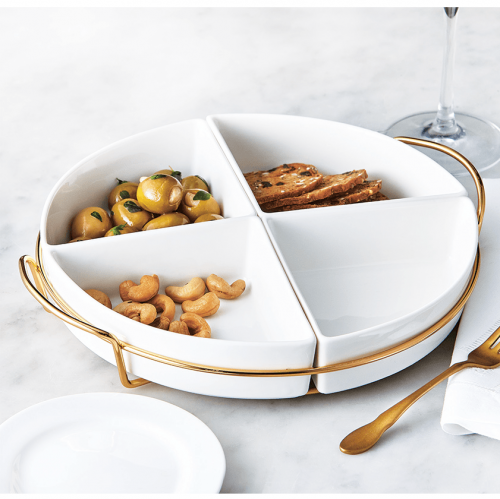 Aperitive 4 Section plate - Magasins Hart | Hart Stores