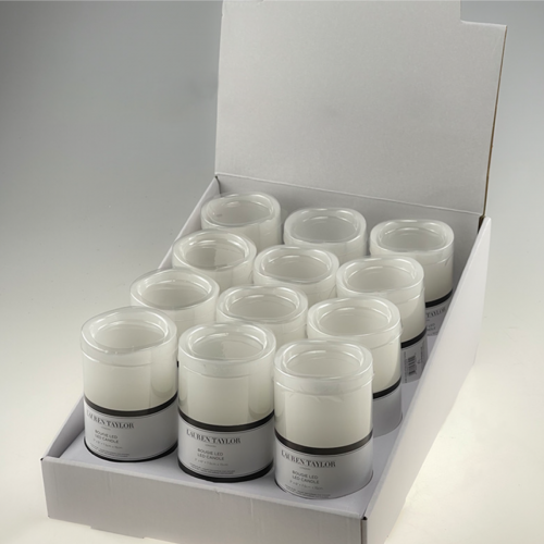 LED Candle White Del With Timer